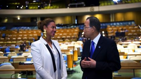 Hot Shot: Beyonce Visits United Nations Assembly Hall
