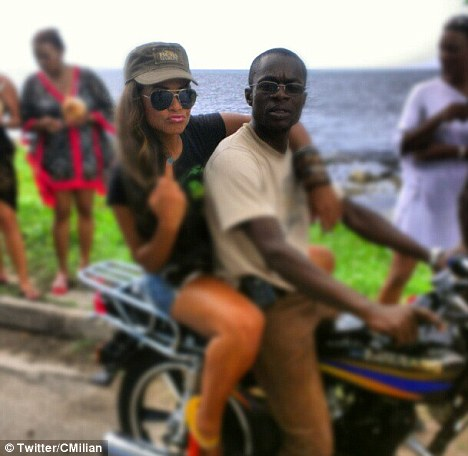 christina milian on the back of a motorbike Hot Shots : Christina Milian Scorches In Jamaica