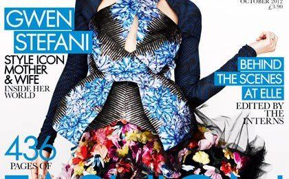 Hot Shot: Gwen Stefani Blooms Blue For 'Elle'