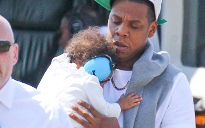 Hot Shots: Blue Ivy Jet Sets With Jay Z