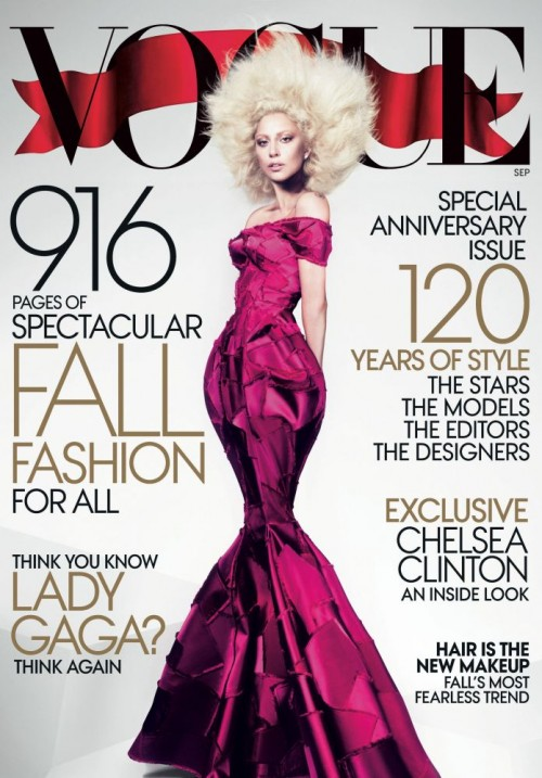 lady gaga vogue 2012 e1344508040517 Hot Shot: Lady GaGa Covers Vogue