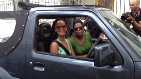 Hot Shot: Rihanna Drives Around Barbados...With Oprah
