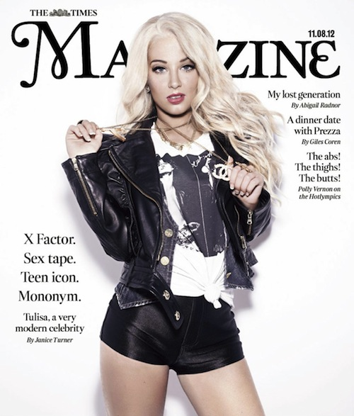 tulisa the times magazine Hot Shot: Tulisa Sizzles For The Sunday Times