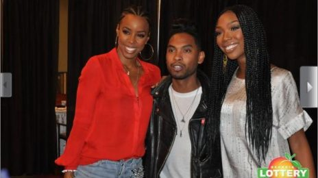 Hot Shots:  Brandy, Kelly Rowland, & Miguel Mix And Mingle At FSO