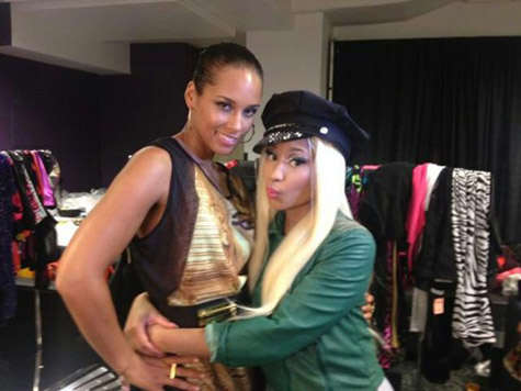 ALICIA KEYS AND NICKI MINAJ VMAS