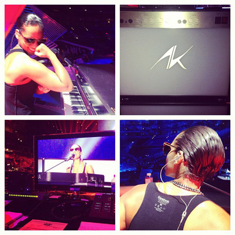 ALICIA KEYS REHEARSES FOR 2012 VMAS Girl On Fire: Alicia Gears Up For VMA Performance