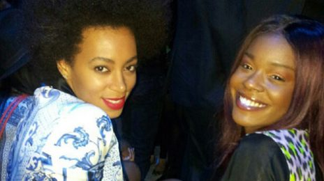 Hot Shot: Solange Enjoys 'Fashion Week' With Azealia Banks