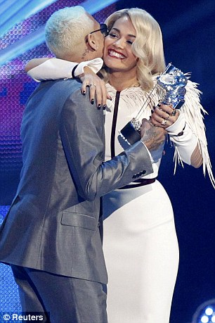 RITA ORA CHRIS BROWN VMAs Hot Shots: Chris Brown Enjoys VMAs With Rita Ora