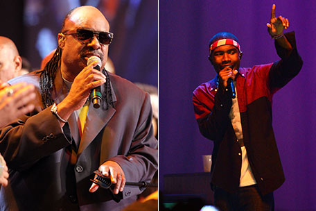 Stevie Wonder and Frank Ocean Frank Ocean: Stevie Wonder Apologizes Over Gay Confusion Remarks