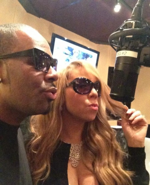 mariah carey rkelly e1348754765702 Hot Shot: Mariah Carey Hits Studio With R. Kelly
