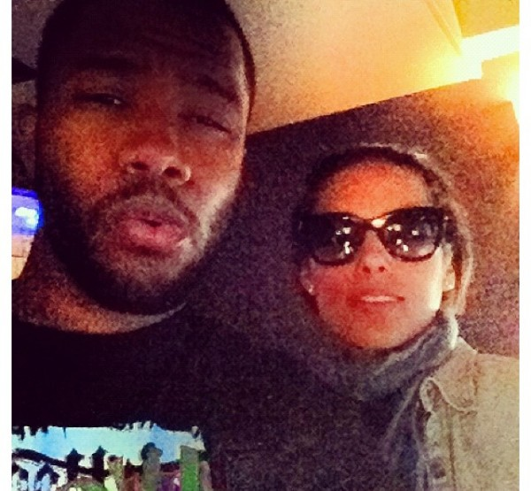 ALICIA KEYS AND FRANK Hot Shot: Frank Ocean Hits The Studio... With Alicia Keys