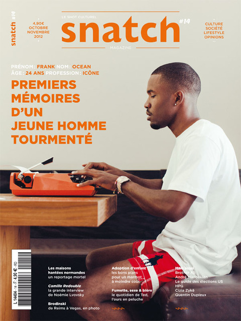 FRANK COVERS SNATCH MAGAZINE Frank Ocean Covers Snatch Magazine