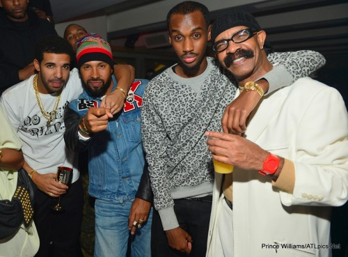 drake dad e1350991102405 Hot Shots: Drake Celebrates Birthday In Atlanta Club...With His Dad