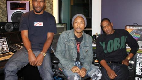 Hot Shot: Frank Ocean Hits The Studio With Pharrell Williams & Jay-Z