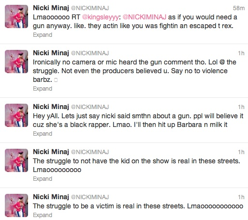 nicki minaj tweets Meow: Nicki Minaj Continues To Slam Mariah Carey Over American Idol Drama