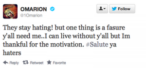 omarion tweet 300x140 Weigh In:  Omarion Battles Twitter Attacks Over BET Hip Hop Awards Performance