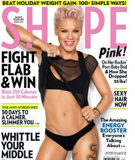 pink nov cover 298 Pink Shows Off For Shape Magazine