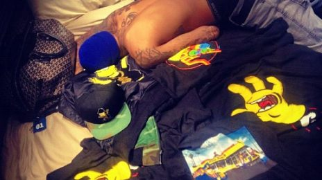 Hot Shot: Rihanna Posts Intimate Snap Of Chris Brown In Bed