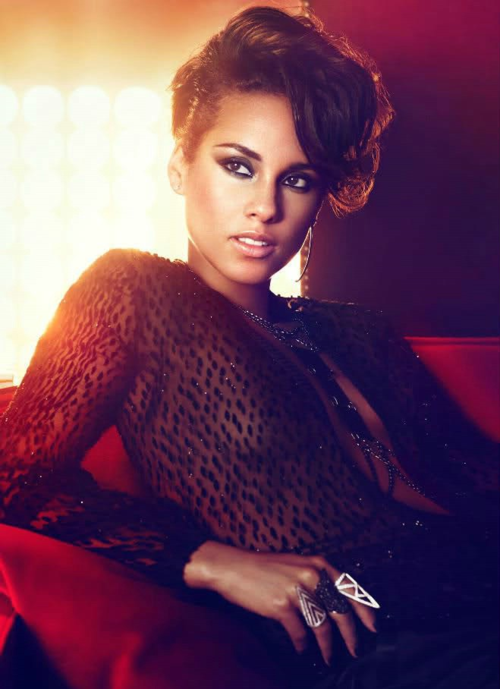 Alicia+Keys+Girl+on+Fire+Promo Girl On Fire: Alicia Keys Blazes Good Morning America Stage