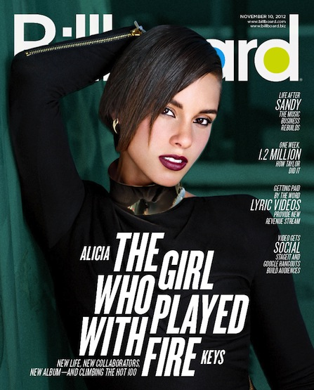 BLI 11102012 Alicia Keys Covers Billboard Magazine, Blazes Jimmy Kimmel Live With Girl On Fire