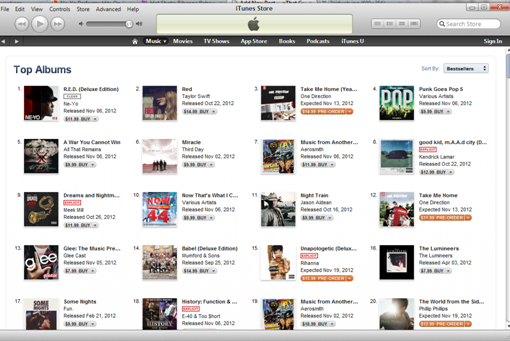 NEYOS RED DOMINATES ITUNES