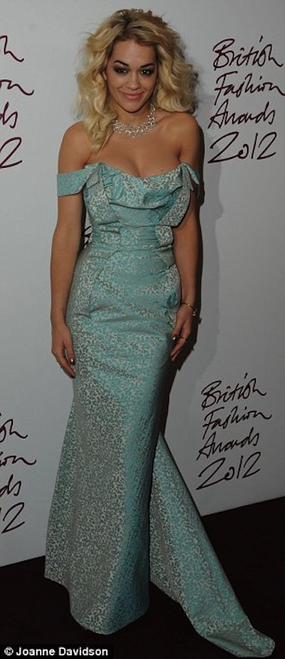 RITA ORA BRITAIN FASHION AWARDS