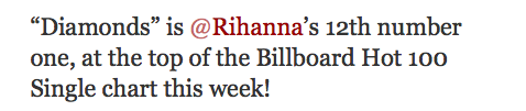 Screen shot 2012 11 20 at 7.42.41 PM Rihanna Racks Up 12th #1 Single, Ties Madonna