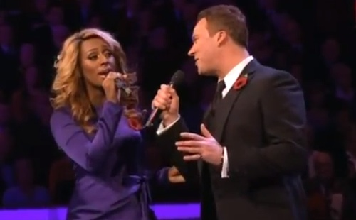 alexandra burke russell watson Alexandra Burke Soars At Royal Remembrance Concert