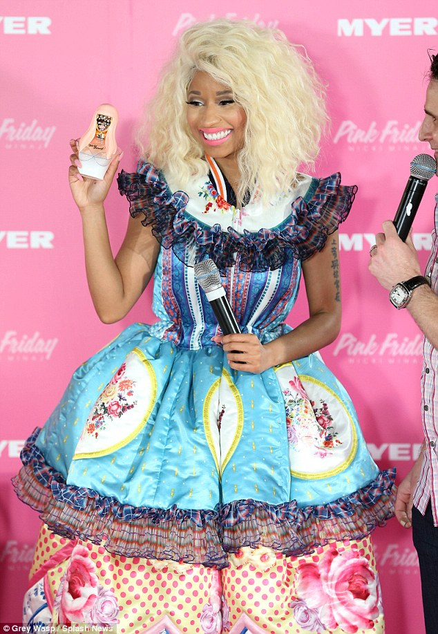 Hot Shots: Nicki Minaj Takes Pink Friday Fragrance Down Under