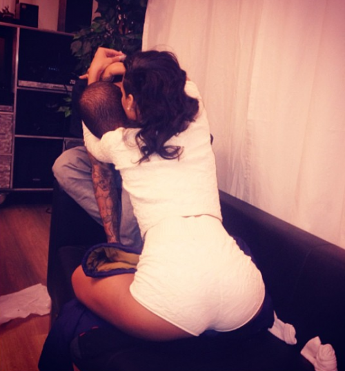 chris rihanna affection e1354277321217 Nobodys Business: Rihanna & Chris Brown Flaunt Couple Time On Instagram