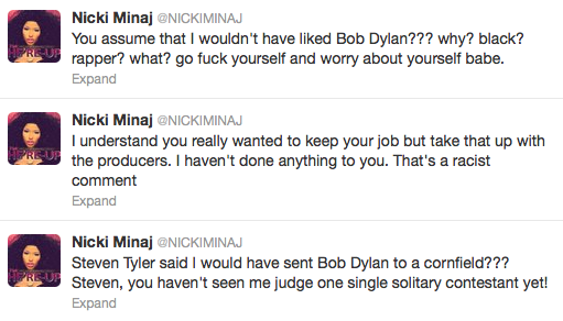 minajtweet Weigh In:  Was Nicki Minaj Right To Slam Steven Tyler For Racist Comments?