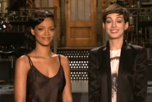 rihanna snl 2012 Watch: Rihanna Promotes SNL Performance