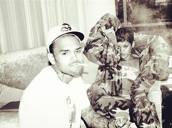 560.chris .riri .ls .12212 Hot Shots:  Chris Brown Returns To Twitter, Poses It Up For XXL Magazine