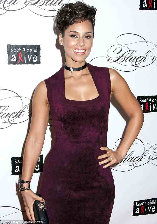 Hot Shots: Alicia Keys Glows At Keep A Child Alive Ball