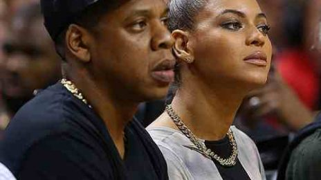 Hot Shots: Beyonce & Jay Z 'Heat' Up Courtside