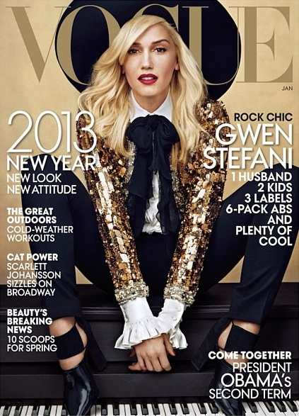 gwen stefani vogue Gwen Stefani Glimmers Gold For Vogue