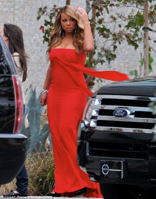 mariah carey idol arrival e1355411079145 Hot Shots: Mariah Carey Arrives At American Idol Auditions In LA