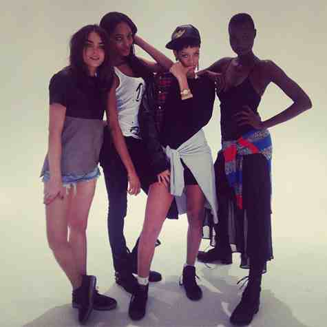Hot Shot: Rihanna Directs River Island Shoot