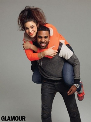20130110 120458 Hot Shots: Jason Derulo & Jordin Sparks Gleam For Glamour
