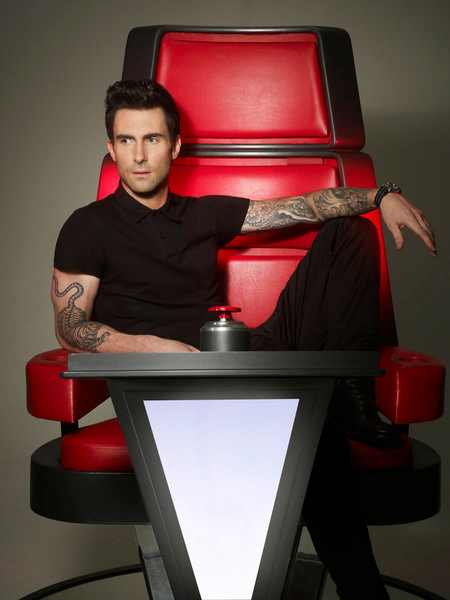 Adam Levine The Voice Coach tgj First Look: Usher & Shakira Take Their Seats On The Voice