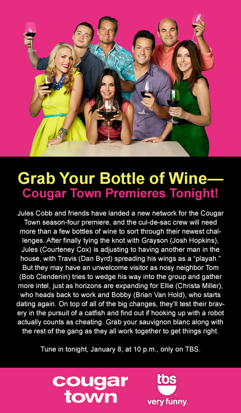 CougarTown Post thatgrapejuice Sponsored: Cougar Town Premieres Tonight On TBS At 10pm!