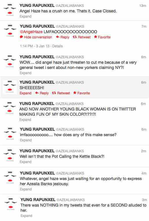 Drama: Azealia Banks Spars With Angel Haze