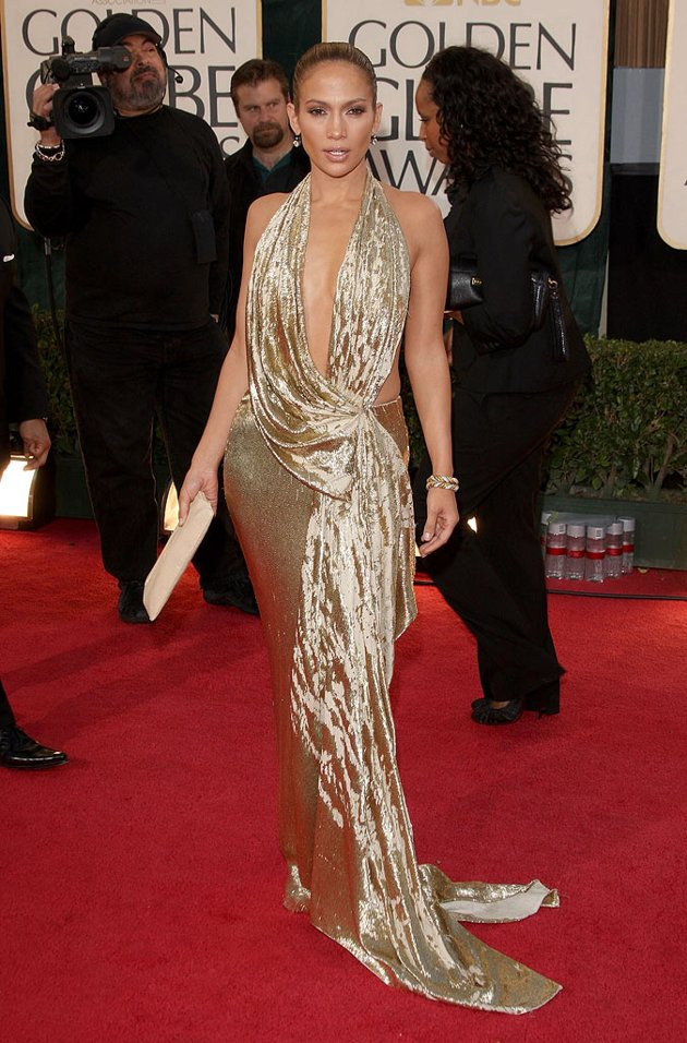 golden globes 2009 jennifer lopez 21180 Hot Shots:  Jennifer Lopez Gleams For Golden Globe Red Carpet