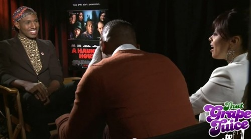 haunted house interview thatgrapejuice e1358440803575 Watch: That Grape Juice TV Interviews Marlon Wayans & Essence Atkins (Stars Of A Haunted House)