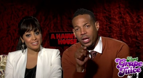 haunted house interview1 thatgrapejuice e1358440684203 Watch: That Grape Juice TV Interviews Marlon Wayans & Essence Atkins (Stars Of A Haunted House)