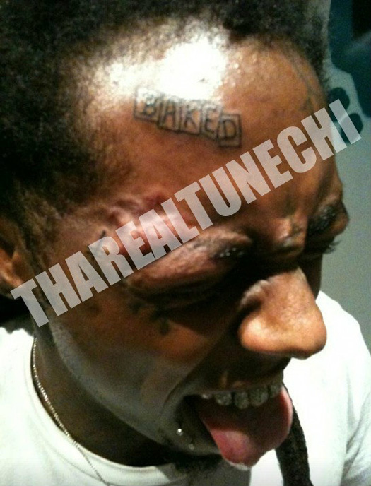 lil wayne tattoo forehead thatgrapejuice Hot or Not: Lil Wayne Debuts Latest Face Tattoo