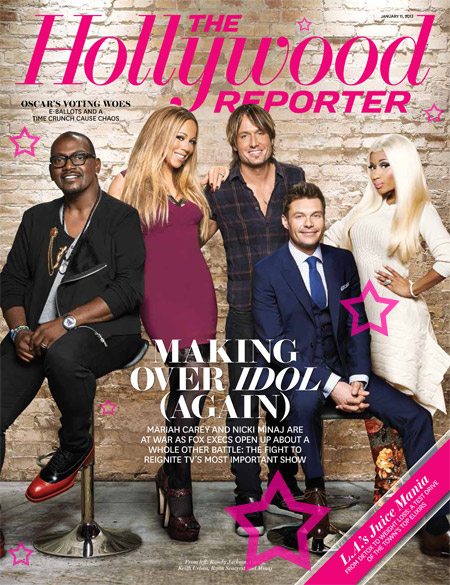 mariah nicki american idol thatgrapejuice Mariah Carey & Nicki Minaj Cover The Hollywood Reporter...Together