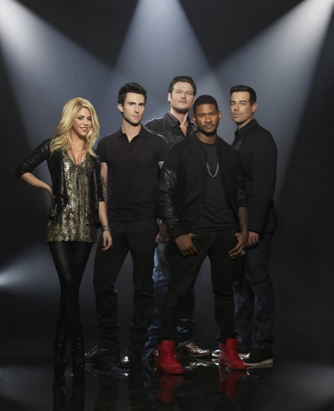 the voice 2013 coaches The Voice: Usher & Shakira Pose It Up In New Promo