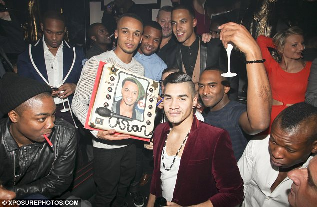 Hot Shots: Aston Celebrates 25th Birthday With JLS Band Members