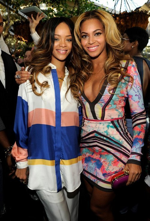 Hot Shot: Beyonce Meets Rihanna At Roc Nation Grammy Brunch
